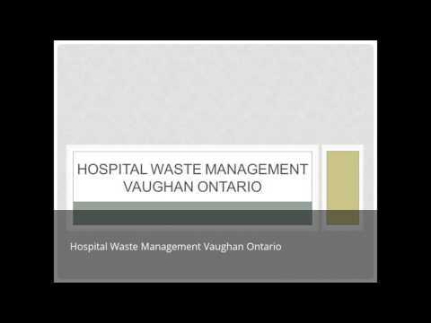 Gic Hospital Waste Management Vaughan Ontario