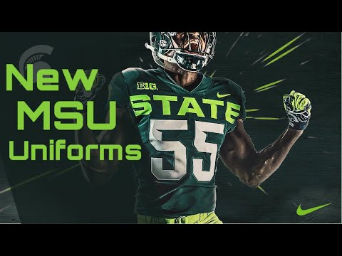 1eaaad95390 Michigan State Releases Alternate Uniforms - YouTube