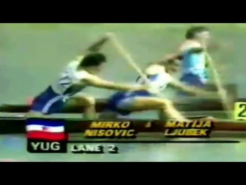 Matija Ljubek 1984 LOS ANGELES Olympic Canoeing Men's C-2 500 m Final