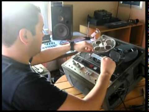 Edición de audio analógico (corte de cinta) por Black