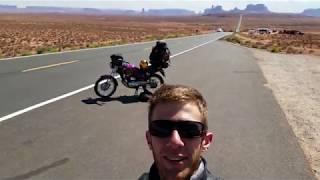 Thiago Muzika e a CG125 em Monument Valley E.U.A