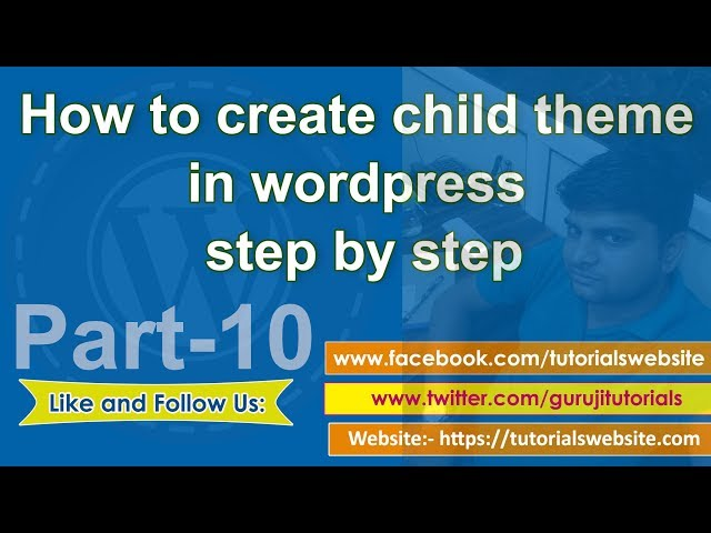 wordpress tutorial in hindi step by step- Part-10: How to create wordpress child theme step by step