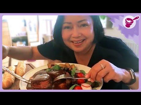 กินสเต็กเนื้อกับสามีค่ะ และวิธีทำหมักเนื้อนุ่ม กับยายนางเดนมาร์คจ้า