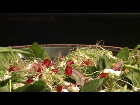 How to Make Spinach and Pomegranate Salad   Salad Recipes   Allrecipes.com