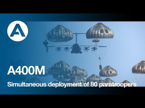 A400M - Simultaneous deployment of 80 paratroopers