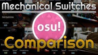 [osu!] Mechanical Switches for osu! (Comparison)