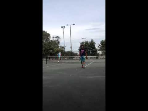 Redfoo plays tennis