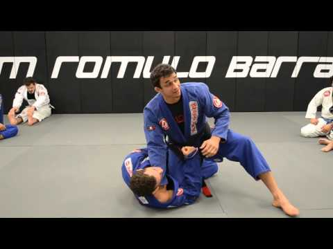 Cross Choke from the knee slice position when passing half guard