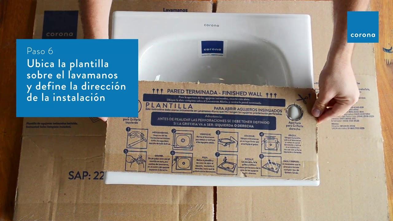Crea los agujeros para instalar una grifería en tu lavamanos Aluvia | Hazlo tú mismo