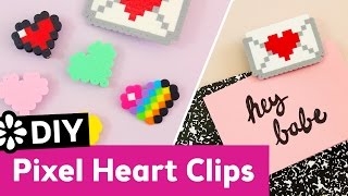 Cute DIY Pixel Heart Clips | Kin's Valentine's Day Inspiration Collaboration