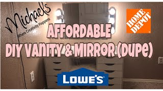 I really hope this DIY helped you all build your easy dream vanity desk and mirror. Its super cute and super affordable!! I loved how