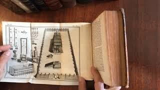 Rare World & Holy Land maps CA as island 1696 de Masso engraved Judaism fine book 11 plates
