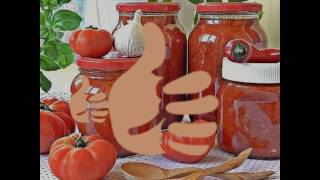 Соус из помидоров и перца. Консервируем помидоры. Рецепт под видео.