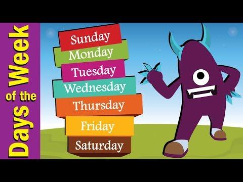 Days of the Week Song for Kids   Kindergarten, Preschool & ESL   Fun Kids English