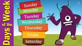 Days of the Week Song for Kids | Kindergarten, Preschool & ESL | Fun Kids English