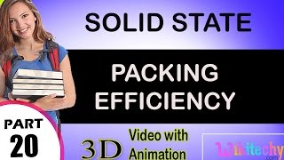 packing efficiency solid state class 12 chemistry subject notes cbse