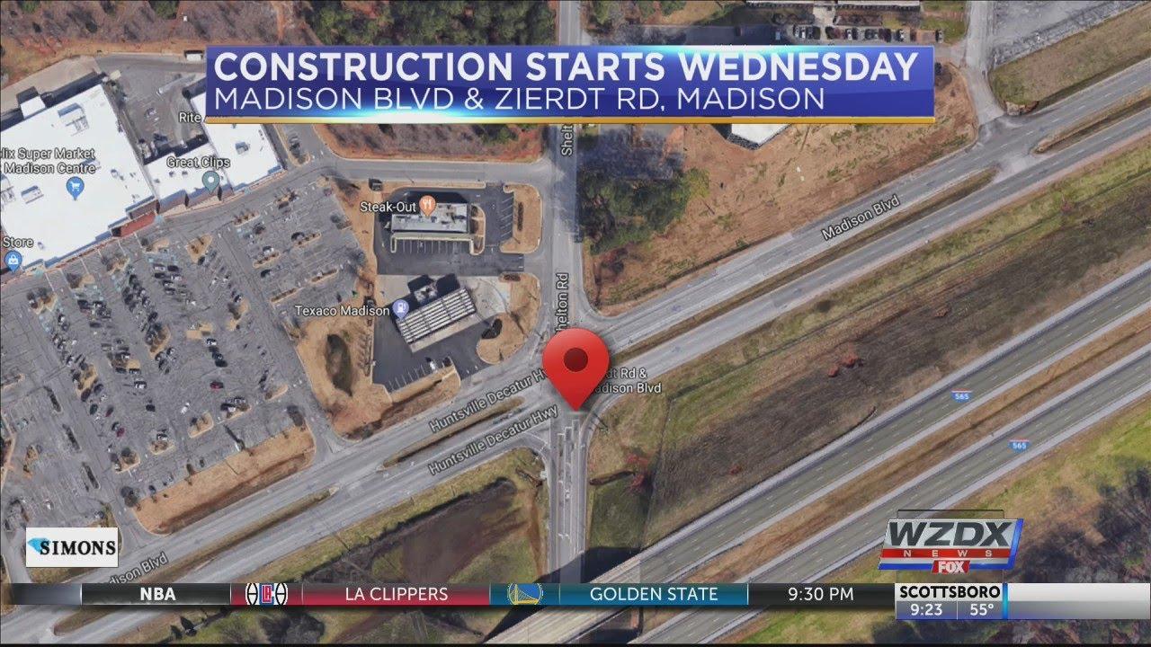 Construction to start on Madison Blvd & Zierdt Rd