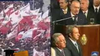 Ultimo adios a Raul Alfonsin 6 Orador Jose Sarney ex presidente de Brasil