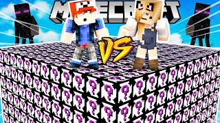 WYZWANIE ENDERMANOWE LUCKY BLOCKI MINECRAFT (Enderman Lucky Block) | Vito vs Bella