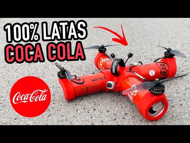 💡Cómo hacer un DRONE RC con LATAS de COCA COLA [Vuela de verdad]