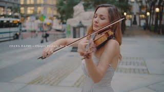 Chopin Prelude No 4 - Violin solo in NYC l Joana Kaimi