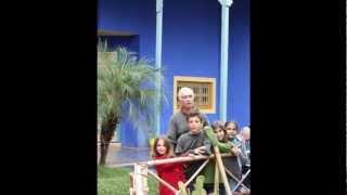 2010 Maroc   Marrakech, Visite au Jardin Majorelle, en famille