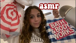 ASMR target and bąth and bodywork's haul (short nail tapping)