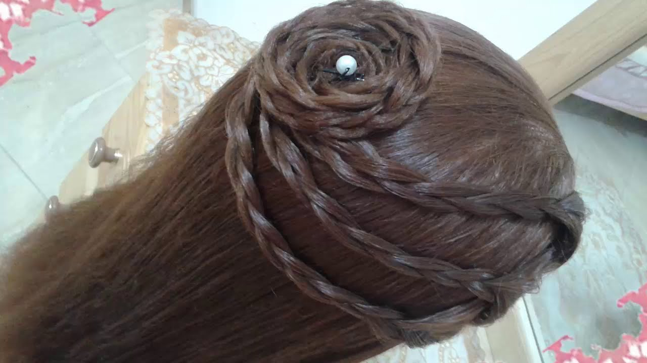 Peinados elegantes y sencillos faciles para cabello largo - Peinados nina pelo largo ...