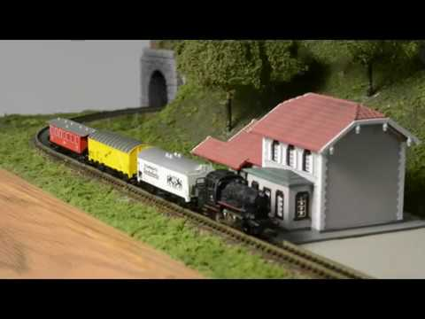 Z scale model railroad