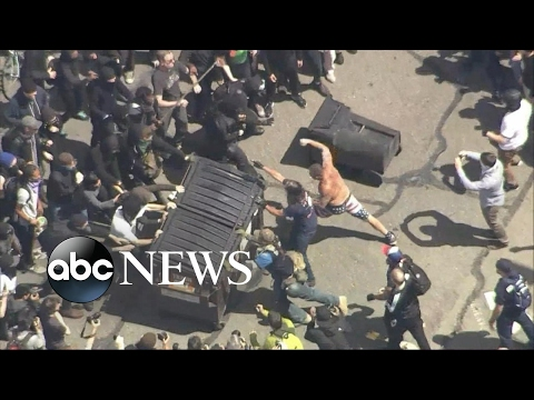 Thumbnail: Tax Day protests in Berkley, California, turn violent