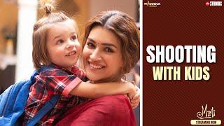 Mimi - Shooting With Kids   Kriti, Pankaj, Sai   Dinesh, Laxman   Streaming Now: JioCinema & Netflix