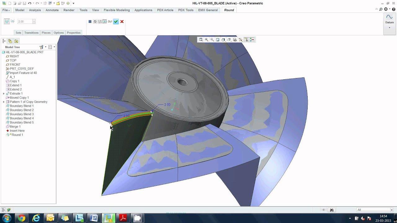 ptc creo parametric create manual parting surface of axial fan rh youtube com creo parametric tutorials creo parametric manual pdf