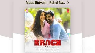 MASS BIRIYANI latest song | KRACK | MUSIC RAJA..