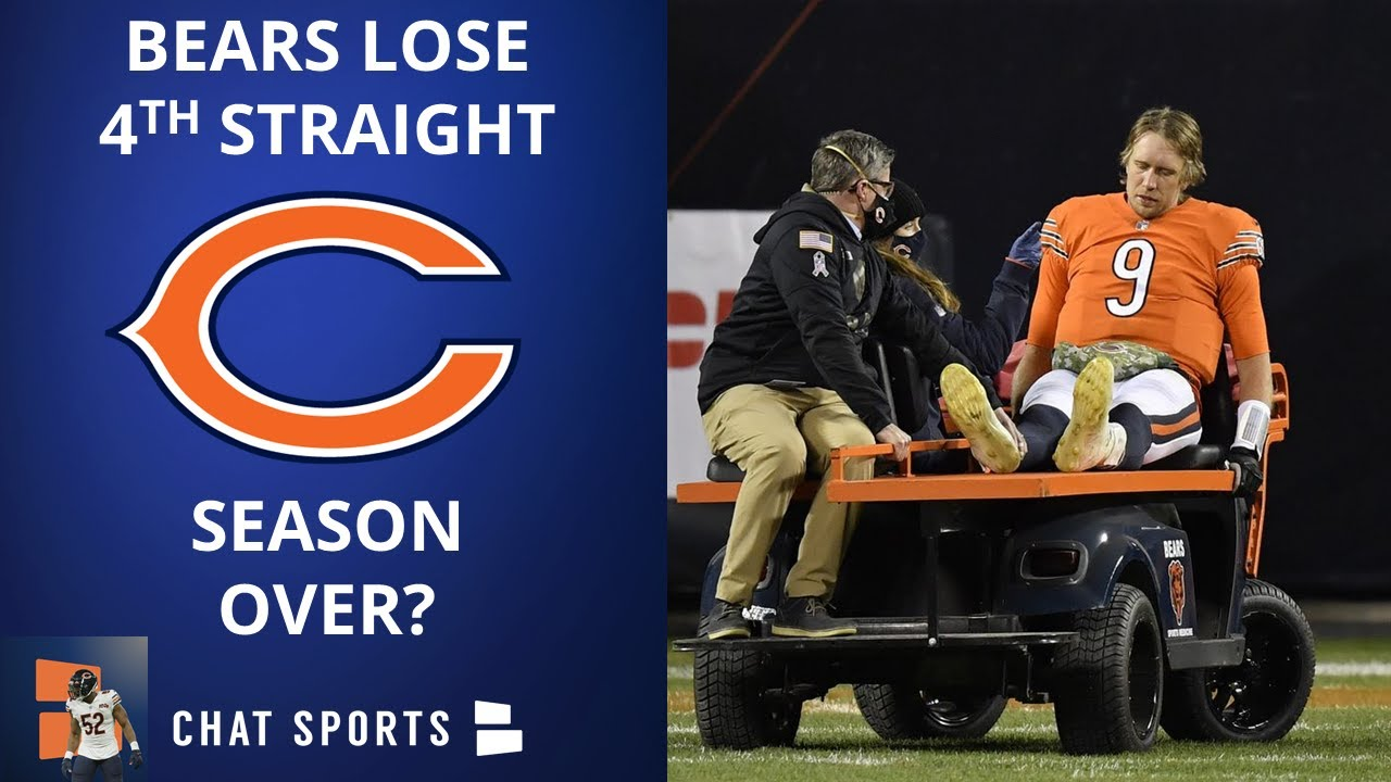 NFL: Chicago Bears quarterback Nick Foles carted off field with ...