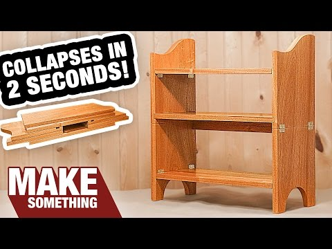 Incredible Collapsible Bookcase! You Gotta See This! | Woodworking Project
