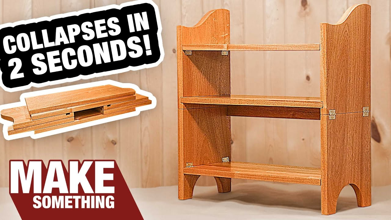 Incredible Collapsible Bookcase  You Gotta See This    Woodworking     Incredible Collapsible Bookcase  You Gotta See This    Woodworking Project    YouTube