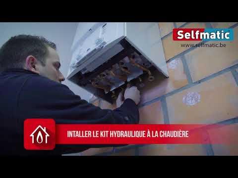 Installation chaudière gaz murale et vase d'expansion