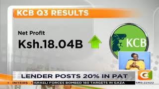 KCB 3rd quater report |Lender posts 20% in PATpat