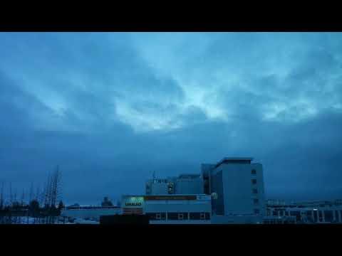 Reykjavik Timelapse - Evening of Thursday 15th February
