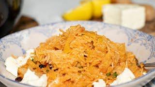 Lahanorizo: Greek Cabbage Rice Pilaf