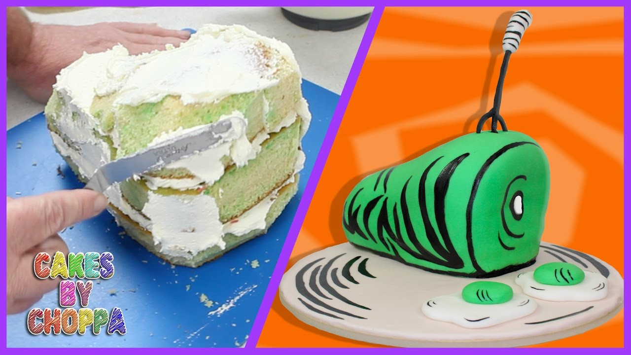 Dr Seuss - Green Eggs and Ham Cake (How To) - YouTube