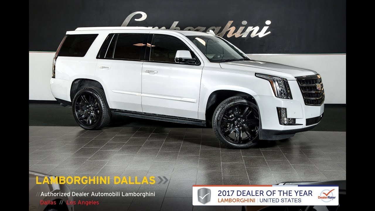 2016 Cadillac Escalade Crystal White Tricoat Lt1003 Youtube