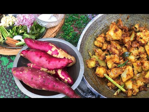Sweet Potato Recipe prepared in my Village by my Mom | Village food