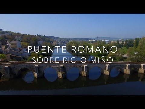 Back to River Miño with Drone (Galicia, Spain) /O Miño y Puente Romano Lugo