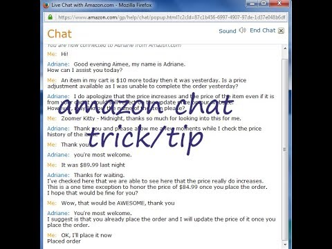 Amazon Chat On Mobile