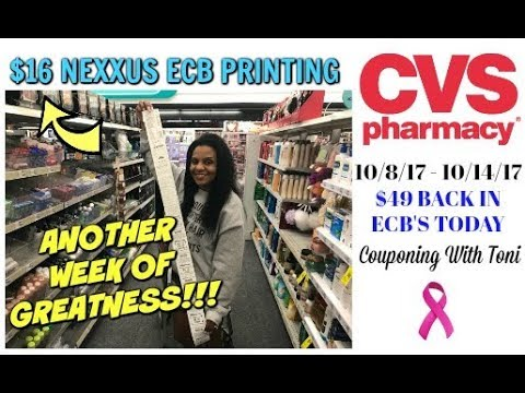 CVS Couponing 10/8/17 | Surprise $16 ECB...