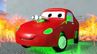 Tow Truck for kids -  Jerry the Racing Car - Tom The Tow Truck in Car City