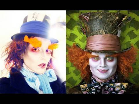 Mad Hatter (Johnny Depp) Make-Up | Kandee Johnson - YouTube