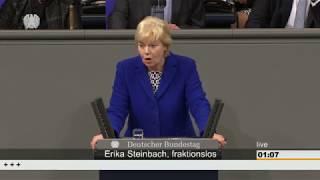 Steinbach spricht in Causa von Gottberg/Alterspräsident des Bundestags von Schwäche und Kleingeist