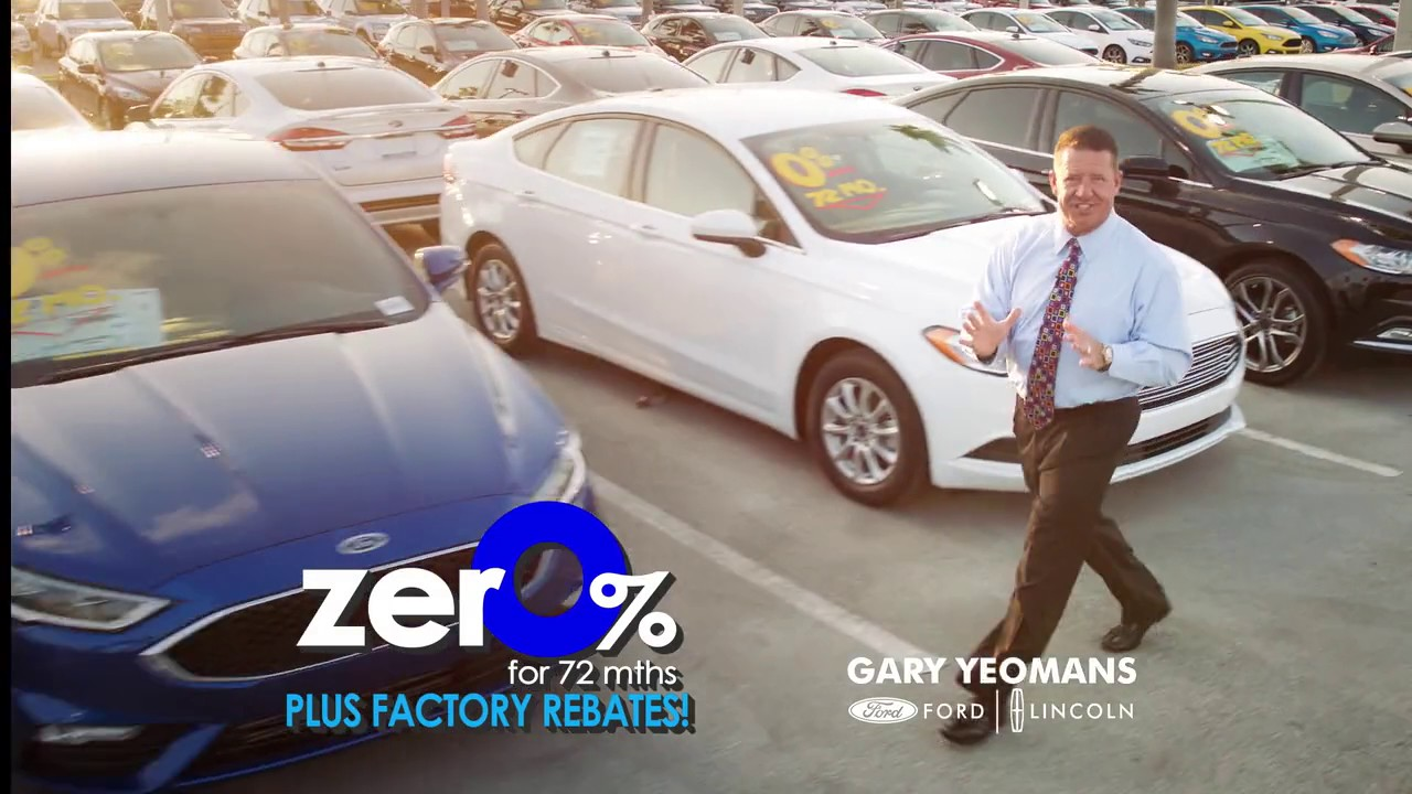 Gary Yeomans Ford Zero Percent Financing Youtube